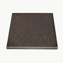 Bordsskiva 60 x 60 tatami brown