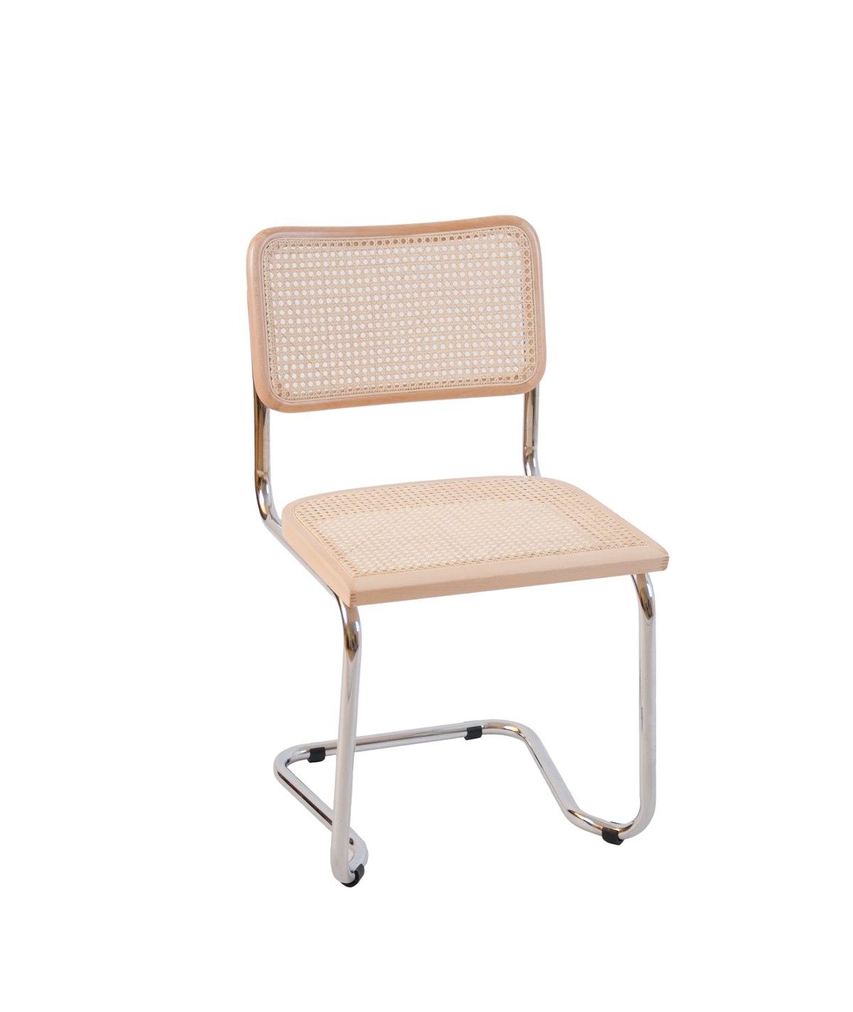 stol med flätad sits